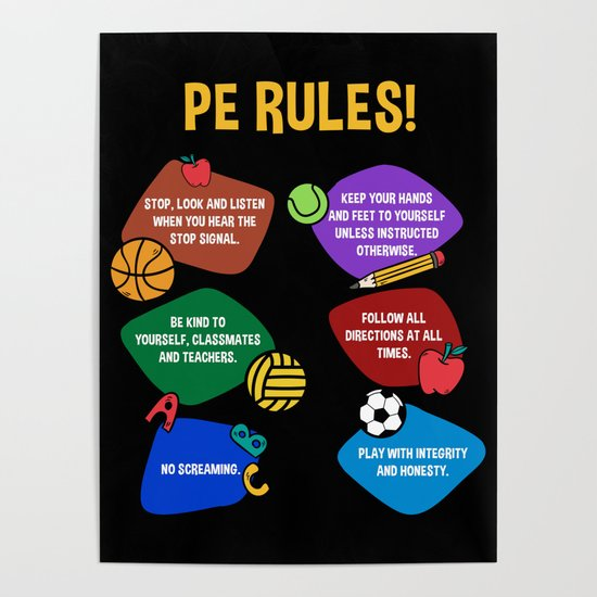 PE Physical Education Teacher Rules by ornack