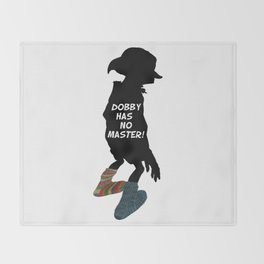 Dobby Has No Master Throw Blanket