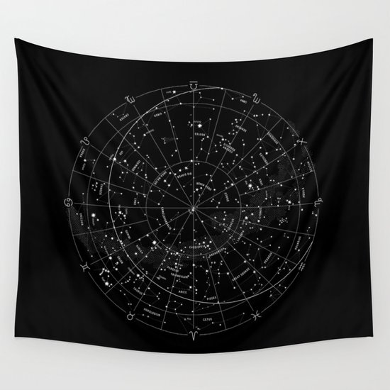 Constellation Map - Black & White by mmerlin