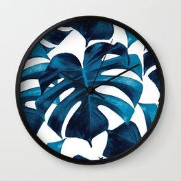 Tropical Monstera Leaves Dream #8 #tropical #decor #art #society6 Wall Clock