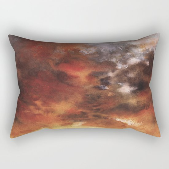 Windmill and the Sunset Sky Rectangular Pillow