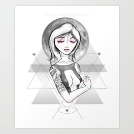 In her arms Art Print