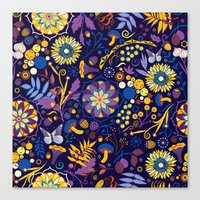 Ripe autumn – purple and yellow Canvas Print