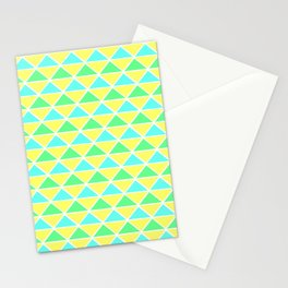 Triangle pattern – Mint blue yellow Stationery Cards