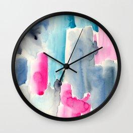 Fragmentation || watercolor Wall Clock
