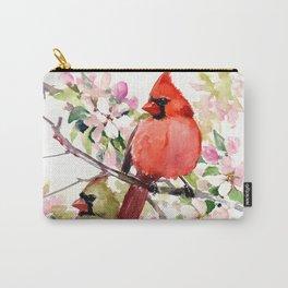 Cardinal Birds and Spring, cardinal bird design Carry-All Pouch