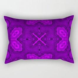 Victorian Art Deco Medieval Pattern bright violet SB26/1 Rectangular Pillow