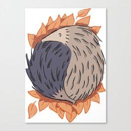 Hedgehog Yin Yang Canvas Print