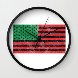African American Flag Gift Idea Wall Clock
