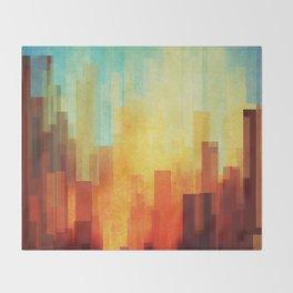 Urban sunset Throw Blanket