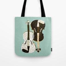 Two Violins Tote Bag