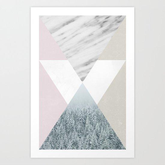 Into the snow Art Print