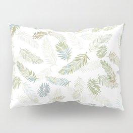 Tropical leaf pattern - Kaki, beige & grey Pillow Sham