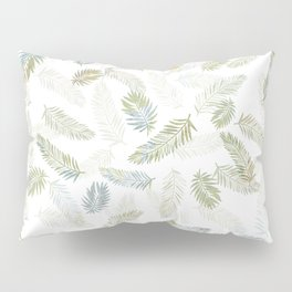 Tropical leaf pattern - Kaki, beige & grey Pillow Sham