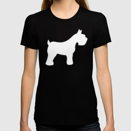 Silver Schnauzers - Simple Dog Silhouettes Pattern T-shirt