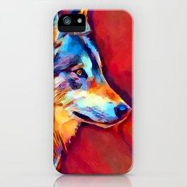 Wolf Portrait 2 iPhone Case