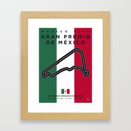 My F1 Mexico Race Track Minimal Poster Framed Art Print