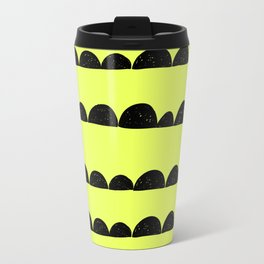 half moon pattern with yellow circle Travel Mug