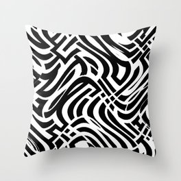 Trippy Urban Surprise, Deception And The Banana Fish Throw Pillow