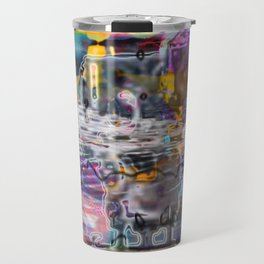 """Lost The Plot In The Last Quarter (or Art Instructors Hate The Term """"Cathartic"""", So...) Travel Mug"""