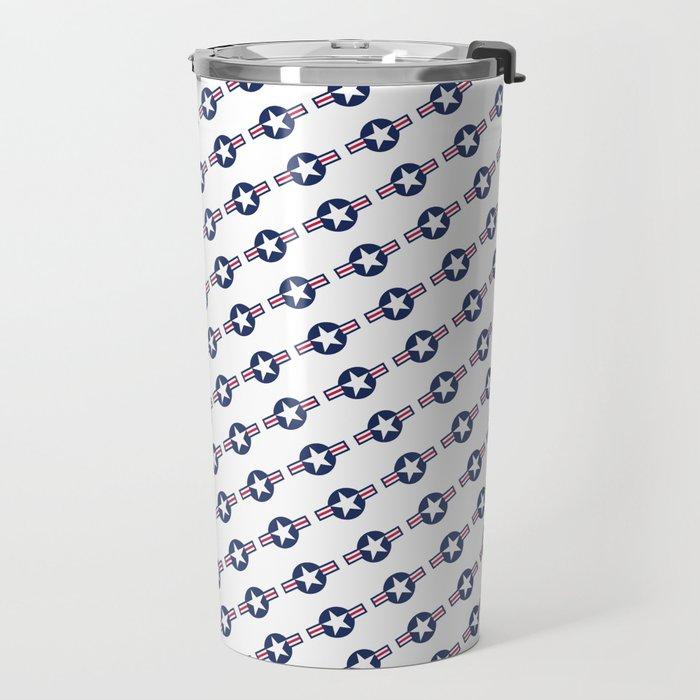 US Airforce style insignia pattern Travel Mug