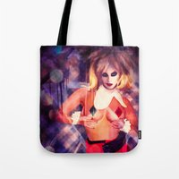 harley quinn Tote Bags featuring Harley Quinn by Sirenphotos