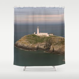 The South Stack Lighthouse Shower Curtain