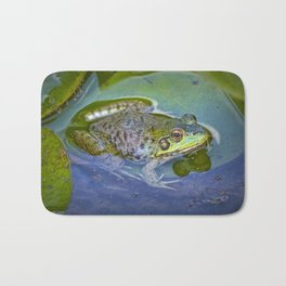 Frog resting on a Lily Pad Bath Mat