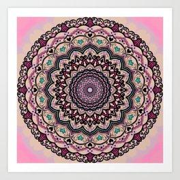 Mandala Project 4 | Mostly Pink Art Print