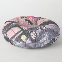 Love against the street noise Floor Pillow