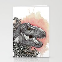 dinosaur Stationery Cards featuring Dinosaur by Gemma Goode