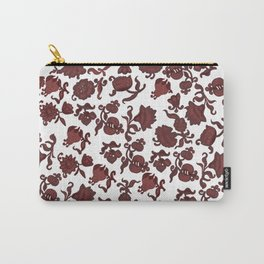 red flowers and foliage . Art Carry-All Pouch