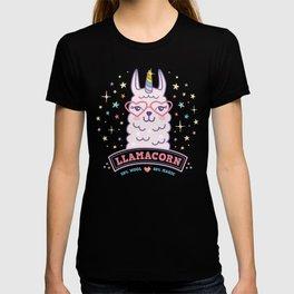 llama unicorn llamacorn gift idea pink cute alpaca T-shirt