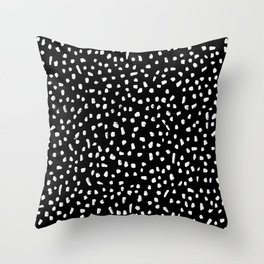 Black and White Painted Speckle pattern Throw Pillow