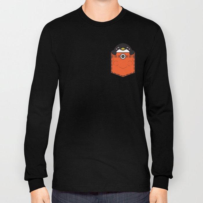 Pocket Penguin Long Sleeve T-shirt