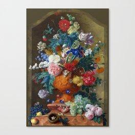 "Jan van Huysum ""Flowers in a Terracotta Vase"" Canvas Print"