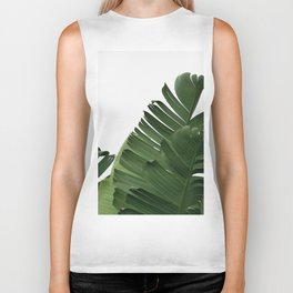 Minimal Banana Leaves Biker Tank