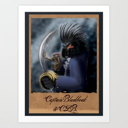 Captain Blackbeak Art Print