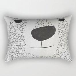 Bear Face Rectangular Pillow