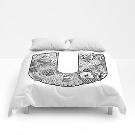 Cutout Letter U Comforters
