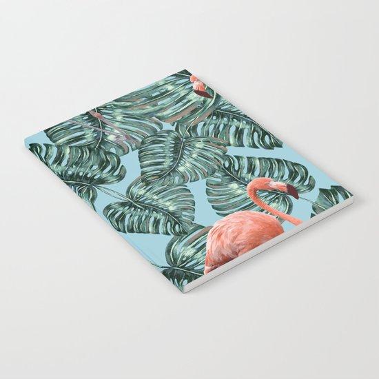 Whimsical Flamingo Pattern #society6 #decor #buyart Notebook