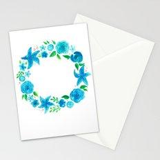 Key West Beachy Wreath Stationery Cards
