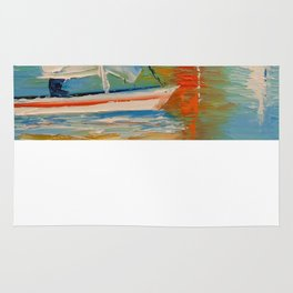 Sailboats on the river Rug