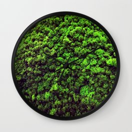 Dark Green Moss Wall Clock