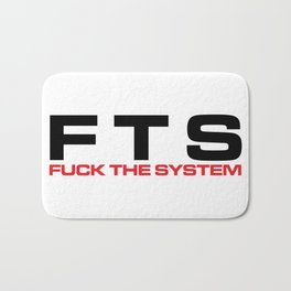 F*ck The System Music Quote Bath Mat