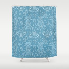 Paislobsters Shower Curtain