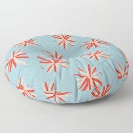 Red Swirl Floor Pillow