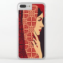 ASIANWOMAN II Clear iPhone Case
