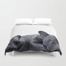 sleeping frenchies Duvet Cover