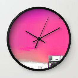 Mist Liquid Particles Versus Void Eye Burning Whiteness Wall Clock